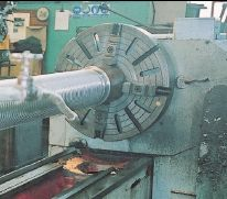 Large Capacity Centre Lathe at Intake Engineering, Wingham, Kent